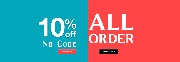 10%off all order